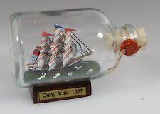Cutty Sark Mini Buddelschiff 50 ml 7,2 x 4,5 cm original Flaschenschiff Handmade