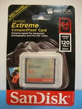 SanDisk 64GB Extreme Compact Flash Memory Card #SDCFXS-064G-A46