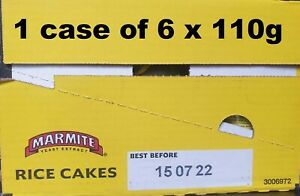 1 case of 6 packets x 110grams Marmite Rice Cakes (13 cakes in each per pack)