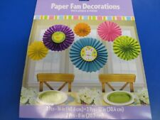 Easter Pastel Spring Carnival Holiday Party Hanging Paper Fan Decorations