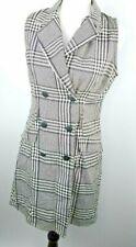 Vintage UM & Company Sleeveless Black & White Button Dress Womens 5/6 FLAW
