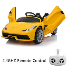 12V Kids Ride On Car Truck Battery Power 3 Speed W/ Lights Music 2 Motors Yellow