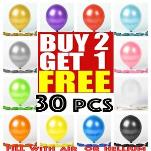 30 X Large PLAIN BALOONS BALLONS helium BALLOONS Quality Party Birthday Wedding