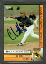 2005 Multi-Ad Gateway Grizzlies #14 Chris Little Card Signed Autograph