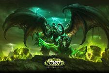 "World Of Warcraft Legion 2016 Poster 36x24"" Wall Print Game Silk Demon Hunter"