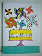 PAPER MAGIC ~ EMBELLISHED CELEBRATION CAKE BIRTHDAY GREETING CARD + ENVELOPE