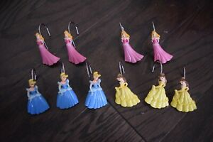 Disney Princess Shower Curtain Holders - Set of 10 - Resin