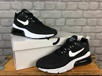 NIKE MENS UK 12 EU 47.5 AIR MAX 270 REACT BLACK WHITE TRAINERS RRP £140 T