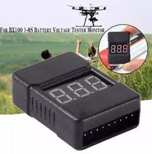 BX100 1-8S Lipo Li-ion RC Battery Low Voltage Tester Monitor Buzzer Alarm 1V-36V