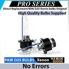 2x D2S HID XENON BULBS ICE BLUE 8000K 35W E-MARK Low Beam AUDI TT 8N 1998-2006