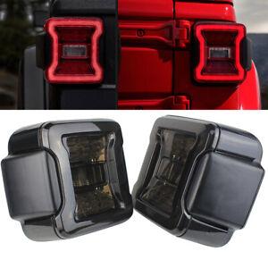 Eagle Lights Smoked LED Tail Lights for 2018+ Jeep Wrangler JL JLU Models