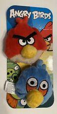 "Angry Birds Mini Plush Bean Bag Toys Red & Blue Bird Commonwealth - 3"""