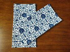 Ralph Lauren PORCELAIN ROSETTE BLUE 2 KING Pillowcases New!!!