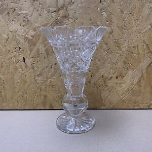 Vintage Waterford? Cut Crystal Flared Vase - 20.5cm Tall