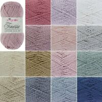King Cole Finesse Cotton Silk Knitting Yarn 50g Wool