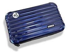 Rimowa Navy Blue Metallic Zipped Cosmetic Kit Clutch Pochette Bag Vip FirstClass