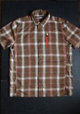 Icebreaker Wool Blend Men's Short Sleeve Button Shirt Size L