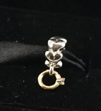 Authentic Pandora Two Tone Silver & 14k Solitaire I Do Ring Dangle Charm 790999D