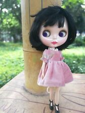 """12"""" Neo Blythe Doll Black Short Hair With Bang from Factory Nude Doll"""