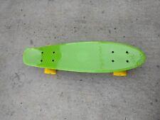 "22"" penny board Plastic Deck Street Skateboard Retro Wave Cruiser Banana Green"