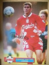 Original Hand Signed Press Cutting- DOMINIC MATTEO, Liverpool FC (apx. A4)