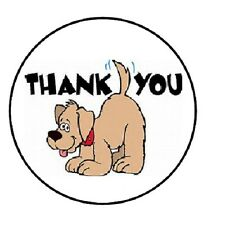 "48 Thank You Dog!!!  ENVELOPE SEALS LABELS STICKERS 1.2"" ROUND"