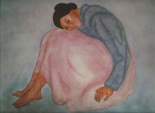 "R.C.Gorman-   Woman In Pink Skirt""-- 10 1/2 x 13,  Southwest Art Print"