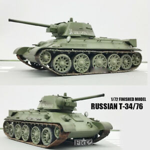 WWII RUSSIAN T-34/76 MODEL 1942 Army 1/72 tank easy model finished non diecast