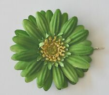 "3"" Green Gerbera Daisy Silk Flower Bobby Pin Hair Clip Pin-Up"