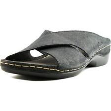 Zapatillas de andar color principal negro de piel por casa de mujer