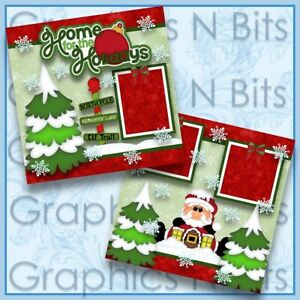 """HOME FOR THE HOLIDAYS 12""""x12"""" Printed Premade Scrapbook Pages"""