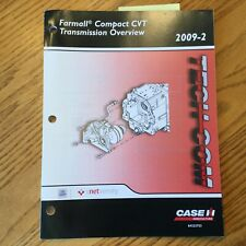 Case International IH TECH-COM FARMALL COMPACT CVT TRANSMISSION GUIDE MANUAL