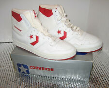 NWB  CONVERSE High Tops Red/White - Size 10  MODEL # 19170