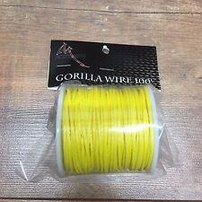 RPM BOWFISHING Gorilla Wire 100 feet - #600 braided Yellow - bowfishing line