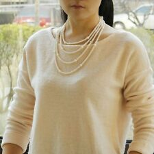 Long Necklace Super Cultured Pearl D` Water Fresh White Class Fashion Tz