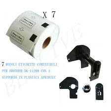 7 Etichette per Brother DK-11209 29mmX62mm QL-500A QL-550 QL-560 QL-570 QL-700
