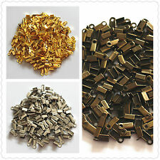 3MM Small Cord End Tip Fold Over Clasp Crimp Bead 4Color, 100 to 10000 Wholesale