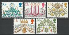 Great Britain 1980 Christmas 5 MNH stamps