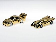 Schuco Piccolo Weihnachtsset 2009 2 x Porsche vergoldet 800 ltd. # 450171072