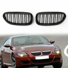 Shiny Black Double Line Front Grille For BMW E63 LCI M6 Style 630 635 645 650 US
