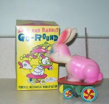 Rare Vintage Rabbit Go-Round By Easter Unlimited, Inc. W/Box ~ Japan
