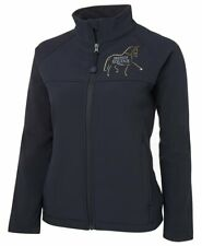 NextGen Ladies Navy Soft Shell Jacket Horse Equestrian