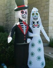 6' Day Of The Dead Airblown Inflatable Sugar Skull Halloween Yard Decoration