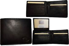 Lot of 3 FIZA NY Leather men's Black wallet, Billfold wallet 2 Bifold New in Box