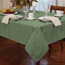 vert à carreaux vichy blanc ROND 183CM 183cm Nappe de table