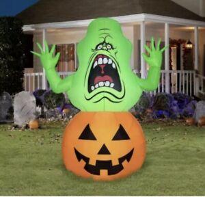 Ghostbusters Slimer Airblown Inflatable 4.5Ft Halloween Pumpkin Lawn Decor Gemmy