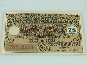 Notgeld der Stadt Meiningen 75 Pfennig 1921
