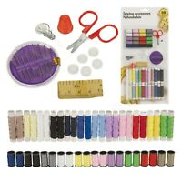 69Pc Needle & Thread Sewing Kit Set Home Essentials Pins Tape Buttons Scissors