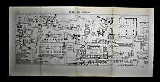 1909=Topografic Plan FORO ROMANO ROMA.Dufrenoy.Thuillier.Passepartout.ETNA