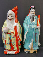 2x Chinese vintage porcelain figures of Gods